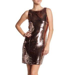 BB Dakota Rose Gold Garland Sequin Dress Sz 2